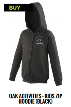 Oak Activities Black zip hoodie