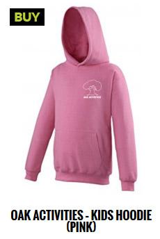 Oak Activities pink hoodie